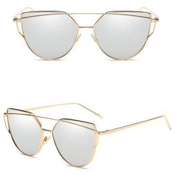 Okulary szyk srebro i złoto
