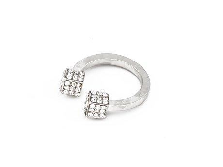 Pierścionek cubes silver