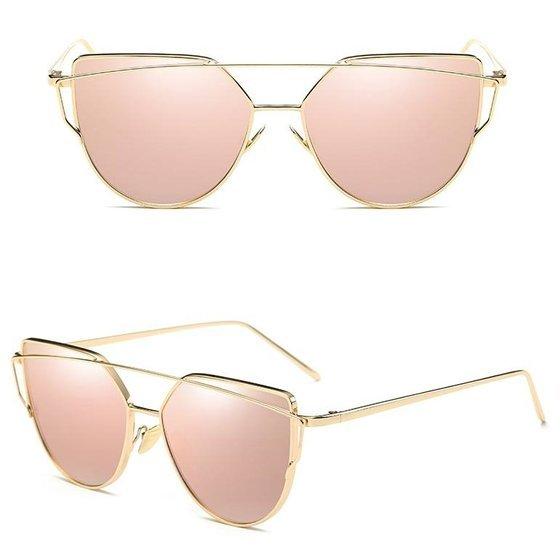 Okulary szyk antyczny róż