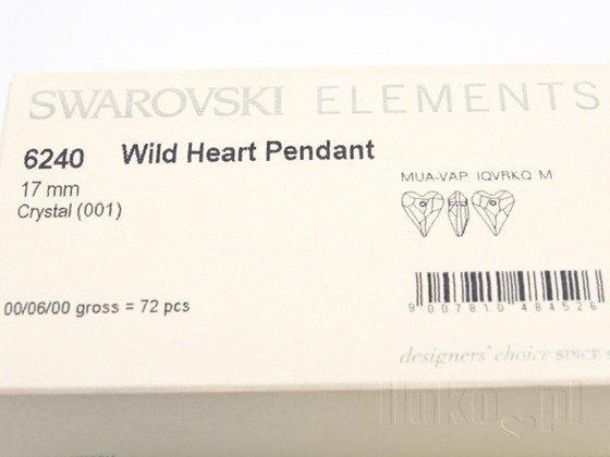 SWAROVSKI 6240 MM 17,0 CRYSTAL WILD HEART